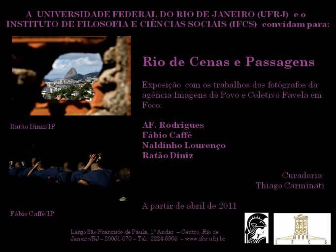 Convite da exposição Rio de Cenas e Passagens
