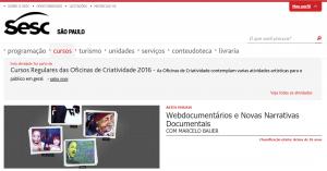 Curso do Sesc Pompeia sobre webdocumentários, com Marcelo Bauer