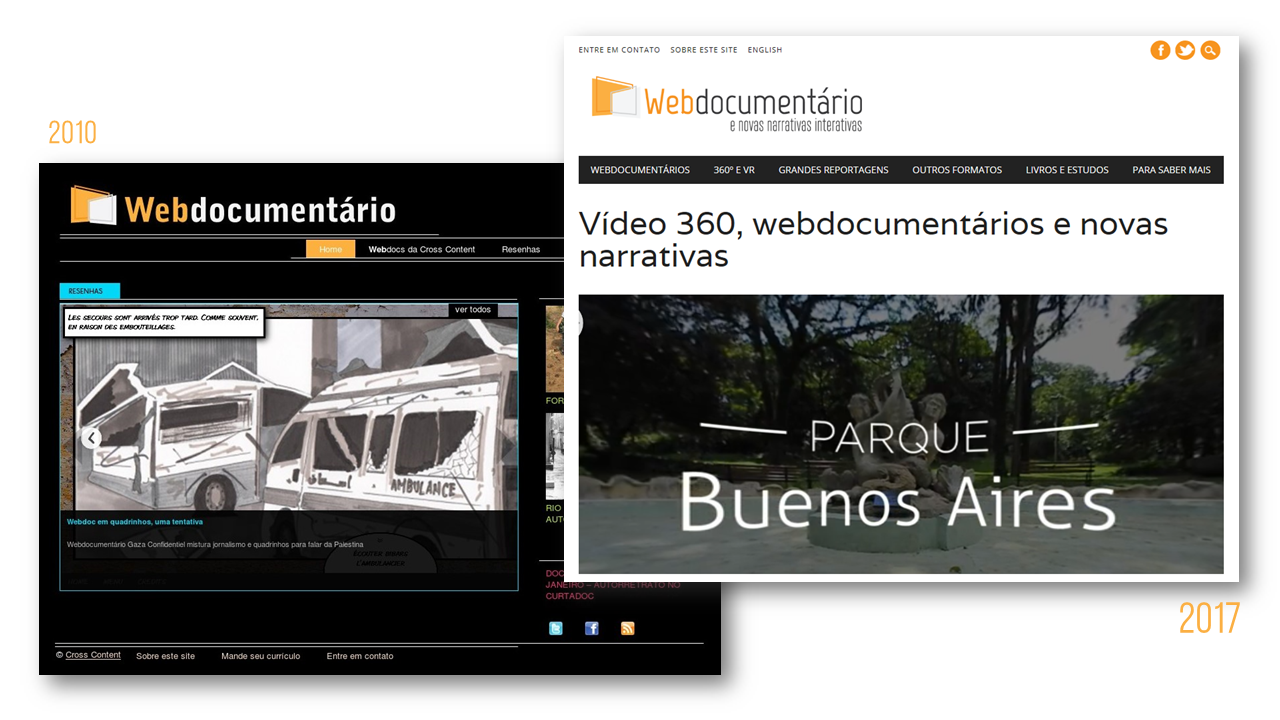 Novo site Webdocumentário e novas narrativas